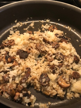 Add in cauliflower rice.